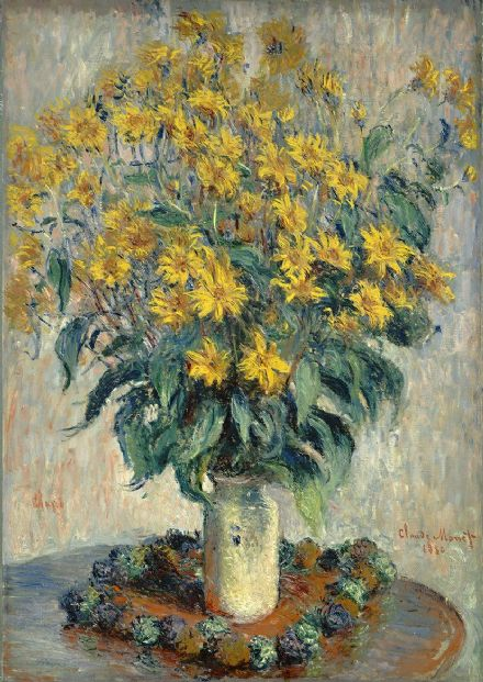 Monet, Claude: Jerusalem Artichoke Flowers. Fine Art Print/Poster. Sizes: A4/A3/A2/A1 (004182)
